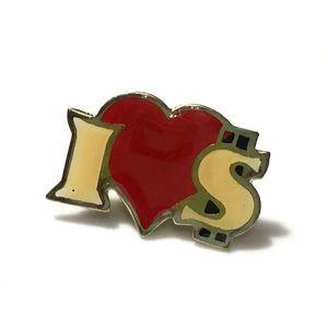 Vintage 1980's I Love Money Pin